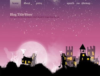 Strange Little Town free wordpress theme