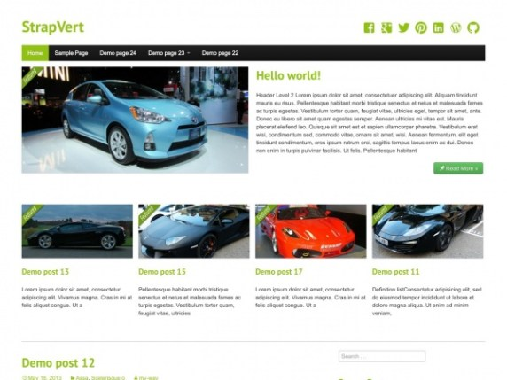 StrapVert wordpress theme