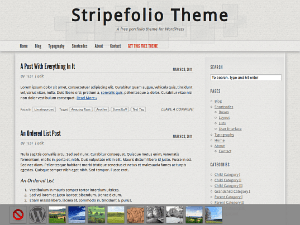 Stripefolio free wordpress theme