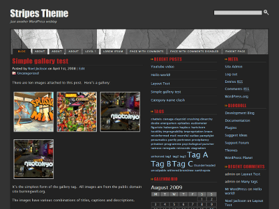 Stripes theme free wordpress theme