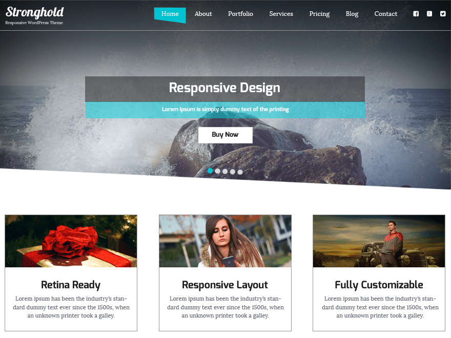 StrongHold free wordpress theme