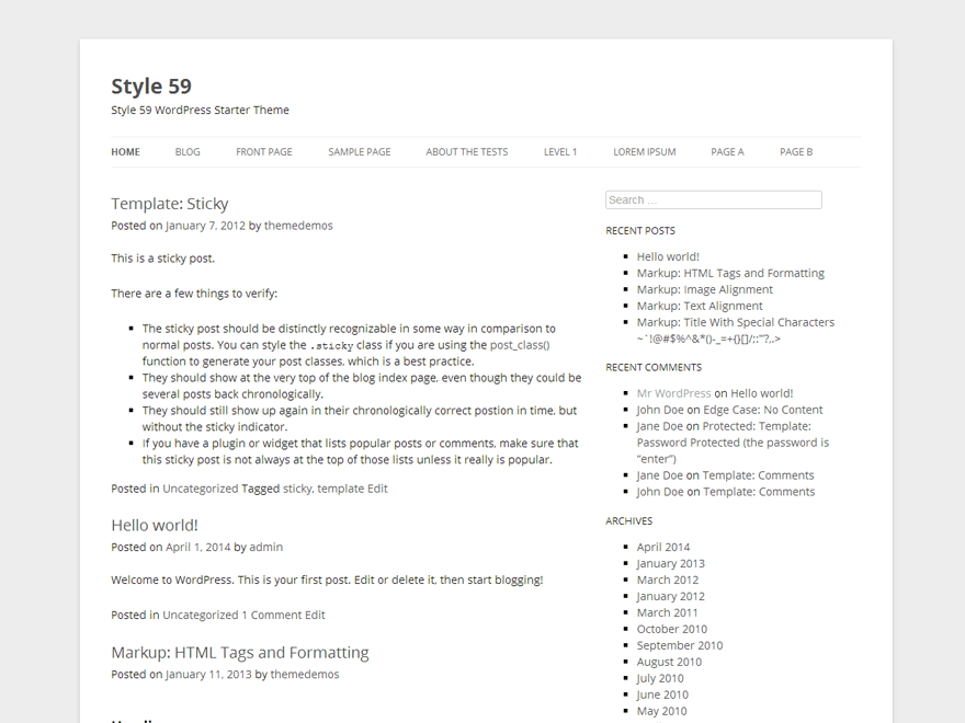 Style 59 theme wordpress gratuit