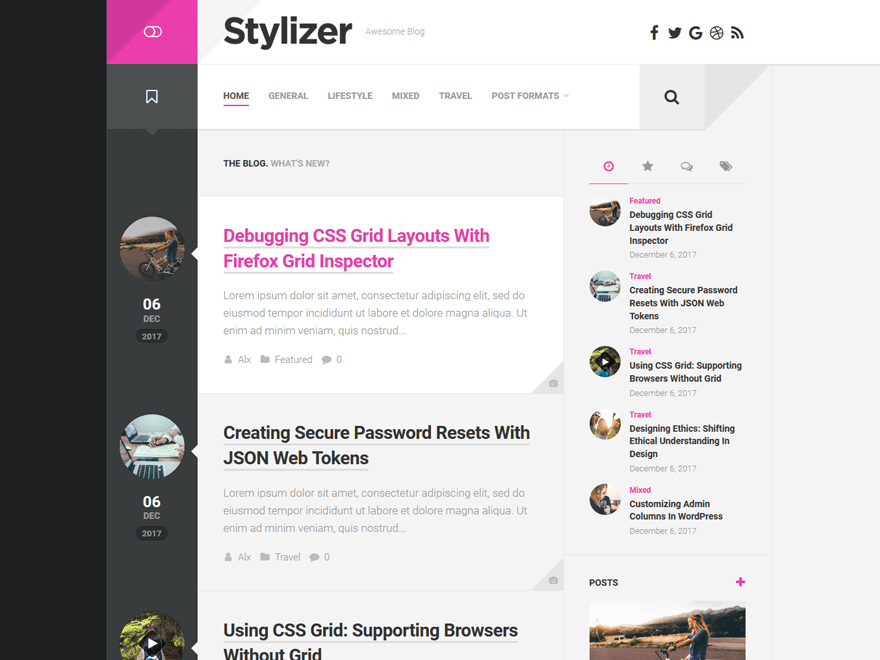 WordPress тема: Stylizer