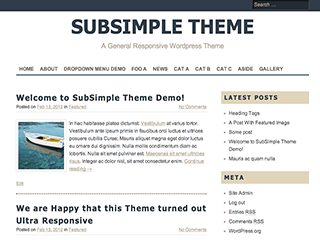 SubSimple free wordpress theme