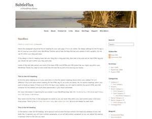 SubtleFlux free wordpress theme