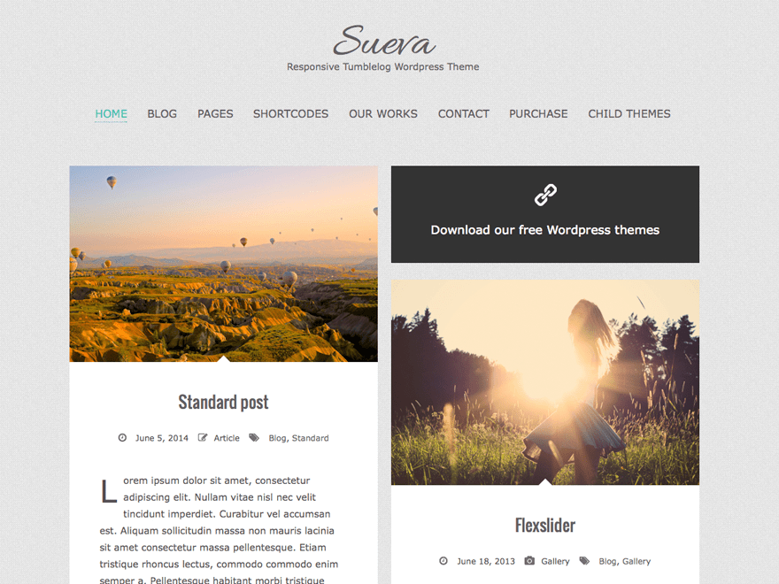 SuevaFree free wordpress theme