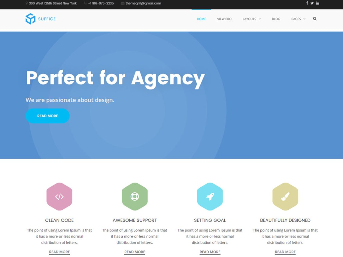 Suffice free wordpress themes suffice is a highly flexible multipurpose wordpress theme that is beautifully crafted with the great attention to details this theme is not just stunning pronofoot35fo Gallery