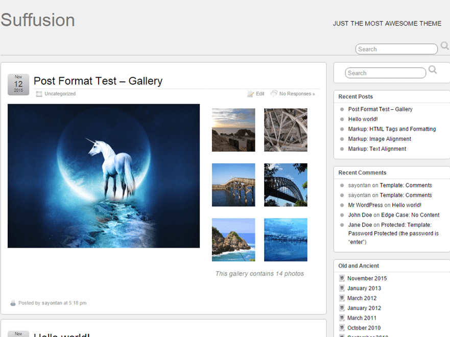 Suffusion free wordpress theme