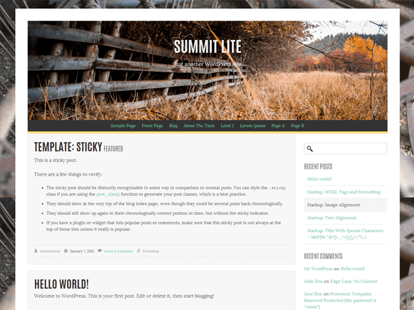 Summit Lite free wordpress theme