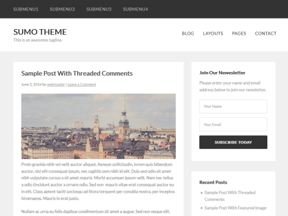 Sumo wordpress theme