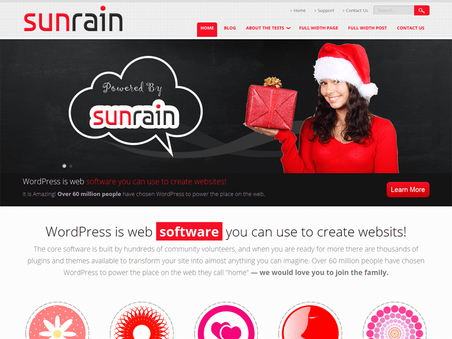 SunRain free wordpress theme