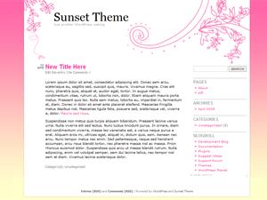 Sunset Theme free wordpress theme