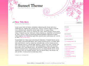 Sunset Theme wordpress theme