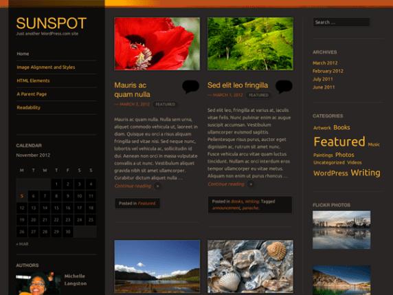 Sunspot wordpress theme