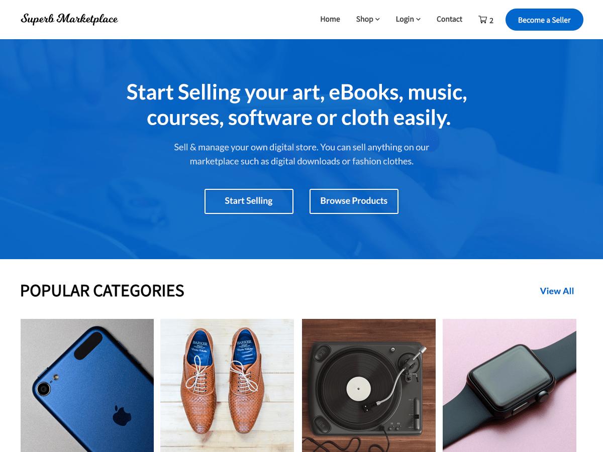 WordPress主题:Superb Marketplace
