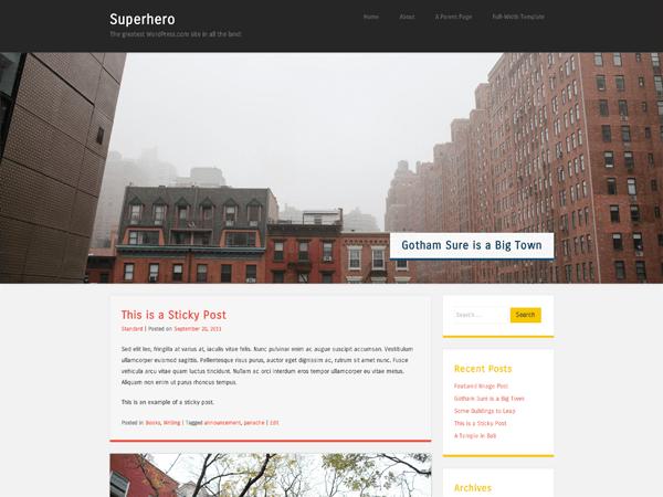 Superhero free wordpress theme