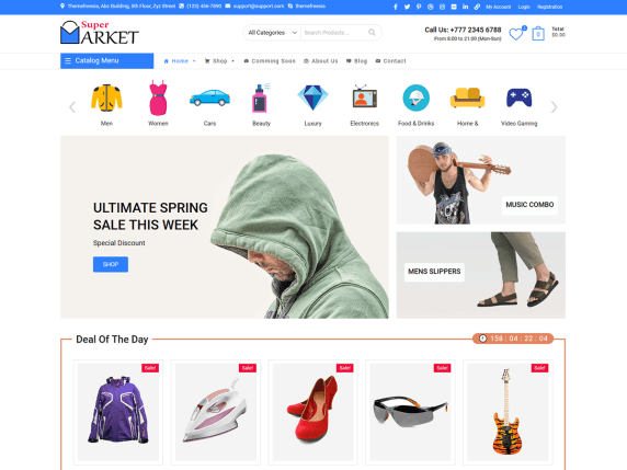 Supermarket eCommerce WordPress Theme