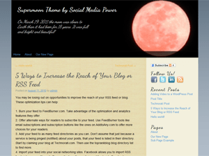 Supermoon free wordpress theme