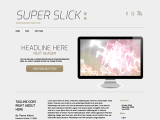 SuperSlick free wordpress theme