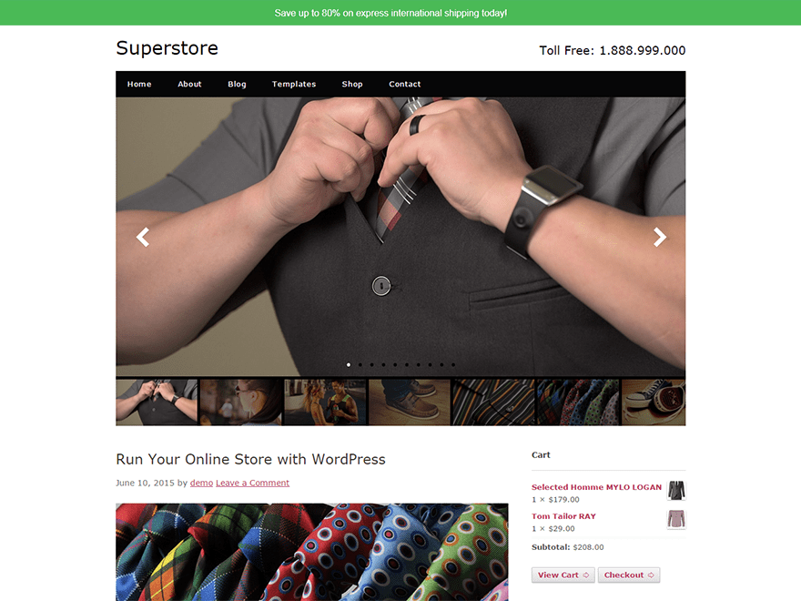 Superstore free wordpress theme