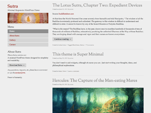 Sutra free wordpress theme