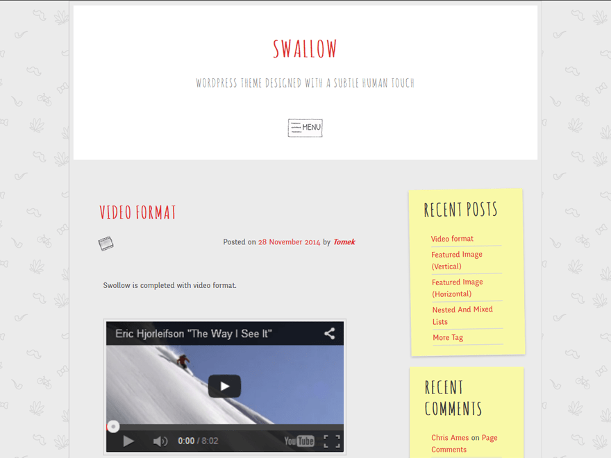 swallow free wordpress theme