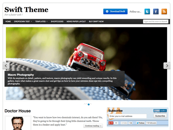 Swift Basic free wordpress theme