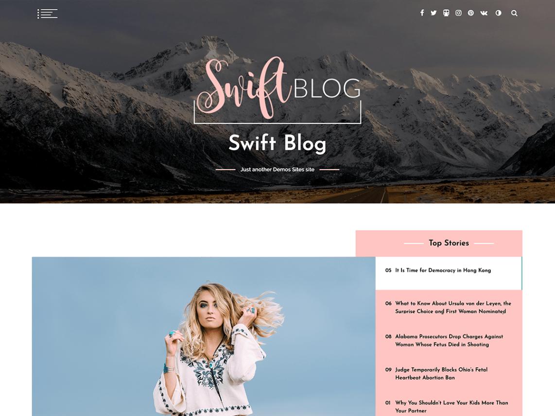 Swift Blog - WordPress theme | WordPress org