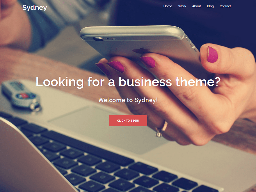 Sydney theme wordpress free responsive