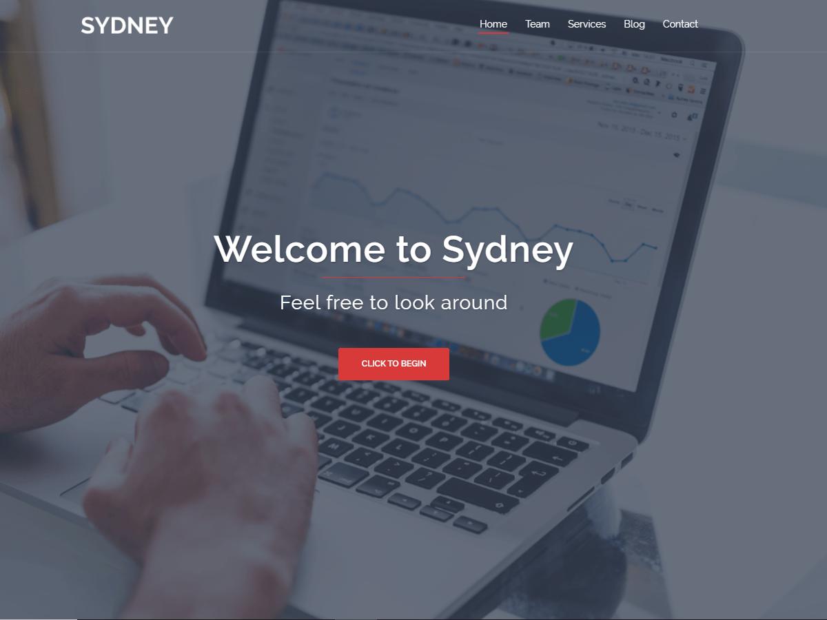 Sydney Powerful Business WordPress Theme