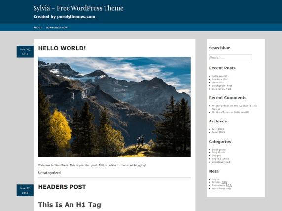 Sylvia wordpress theme