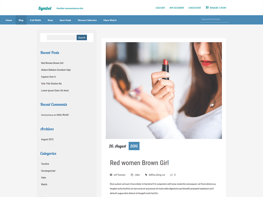 symbol free wordpress theme