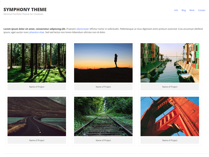 Symphony free wordpress theme