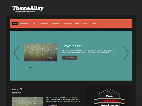 Syn free wordpress theme