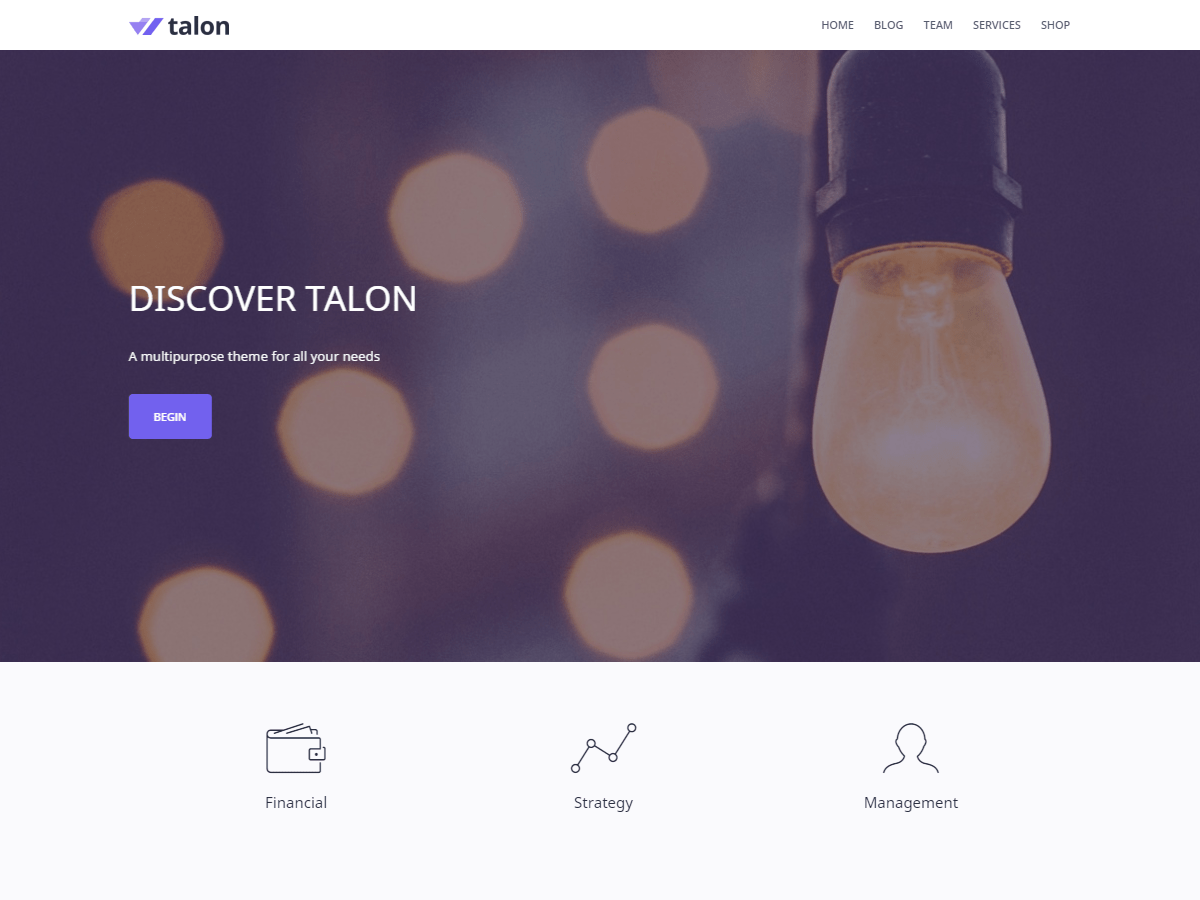 WordPress тема: Talon