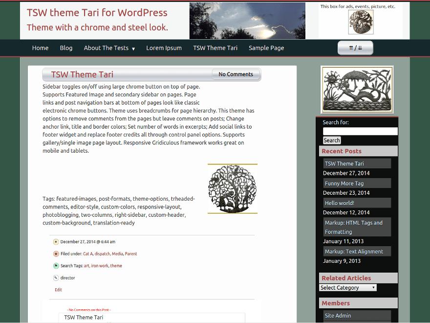 Tari theme wordpress gratuit