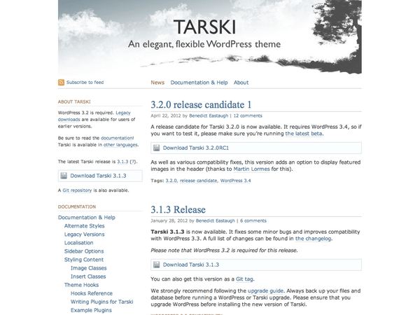 Tarski free wordpress theme