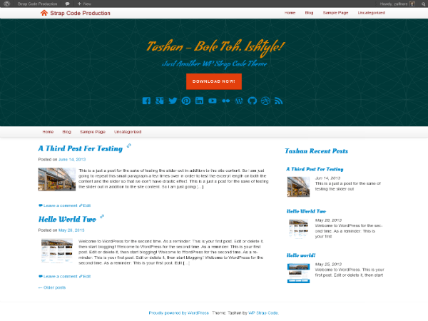 Tashan free wordpress theme