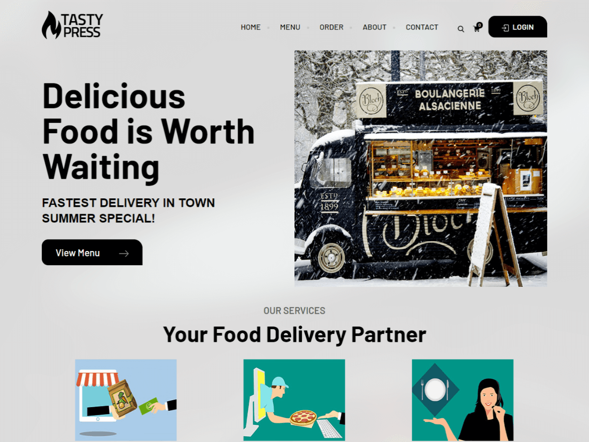 Tastypress Free WordPress Food Restaurant Business Theme