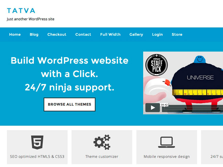 Tatva Lite free wordpress theme