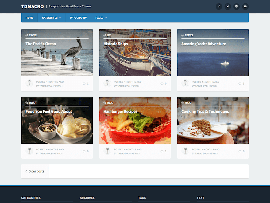 tdMacro free wordpress theme