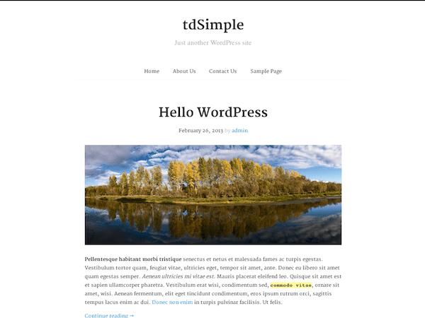 tdSimple   WordPress.org