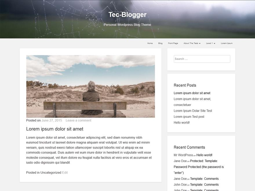 tecblogger free wordpress theme