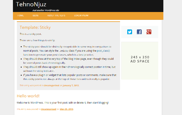 TehnoNjuz free wordpress theme