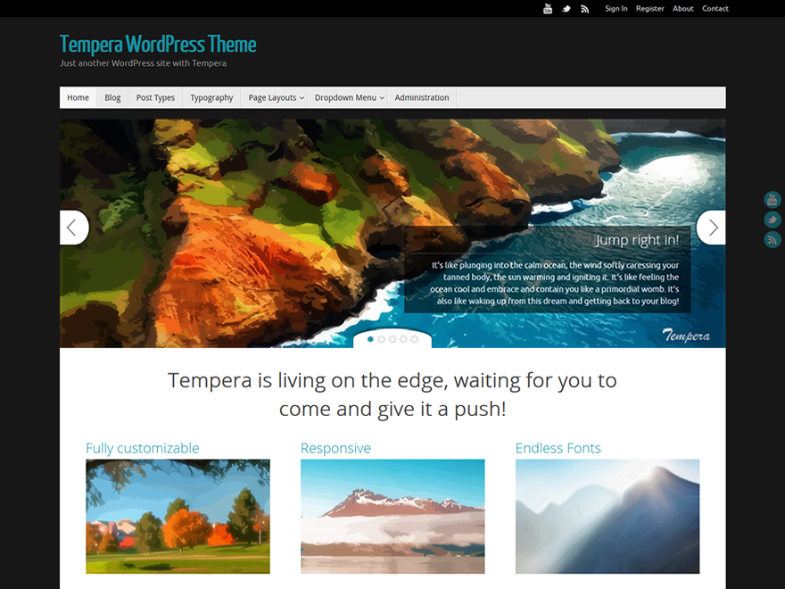 Tempera free wordpress theme