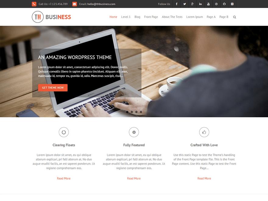THBusiness free wordpress theme
