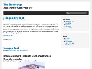 The Bootstrap wordpress theme