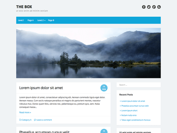 The Box wordpress theme