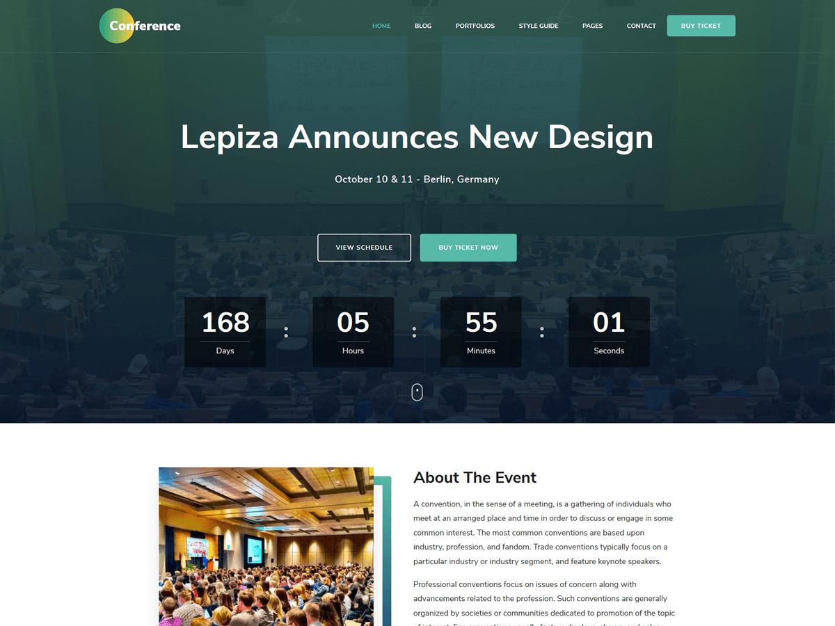 The Conference Wordpress Theme Wordpress Org