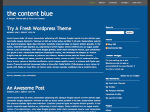 The Content Blue free wordpress theme
